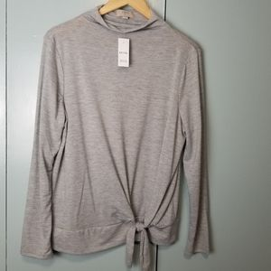 Loft gray high collar long sleeve top size LP -C2